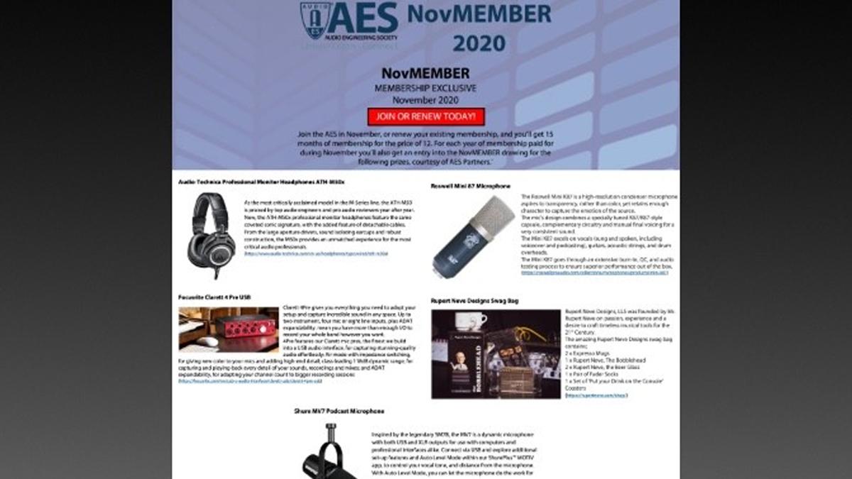 NovMember membership promotion